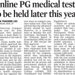Online PG Medical Entrance Test ( CET / NEET ) to be held later this year conduced by NBE National Board