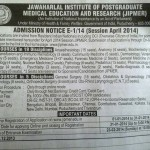 JIPMER PG MD MS Entrance on 23 Feb 2014. Exams in 8 Cities. Last Date 31 Jan