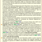 DNB CET: January 2013 : 17th to 20th November 2012 : Diplomate National Board – Centralized Entrance Test : For Admission to DNB Post Graduate Courses January 2013 Admission Session