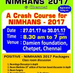 NIMHANS 2017 Entrance Crash Course at Chennai
