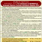 AIPG 2014 : Notification, Instructions regarding Photo, States not utilizing AIPGMEE Result
